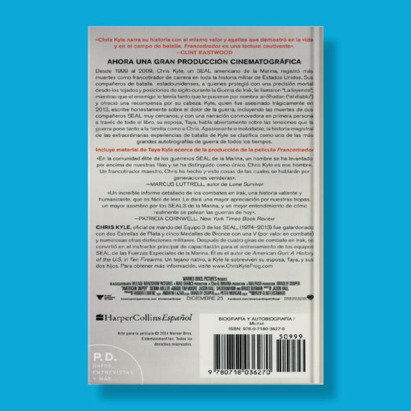 Francotirador - Chris Kyle,Jim Defelice & Scott Mcewen - Harper Collins Ibérica
