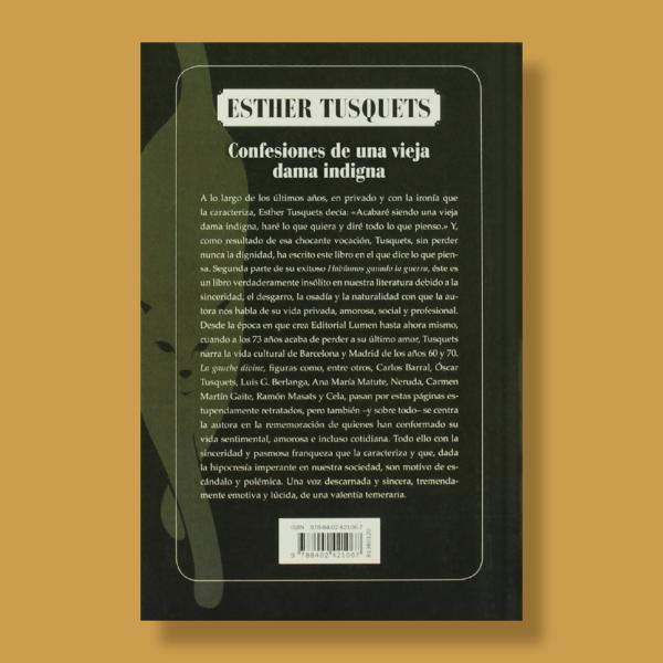 Confesiones de una vieja dama indigna - Esther Tusquets - Brugera