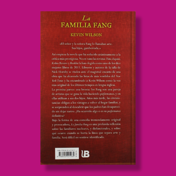 La familia Fang - Kevin Wilson - Brugera