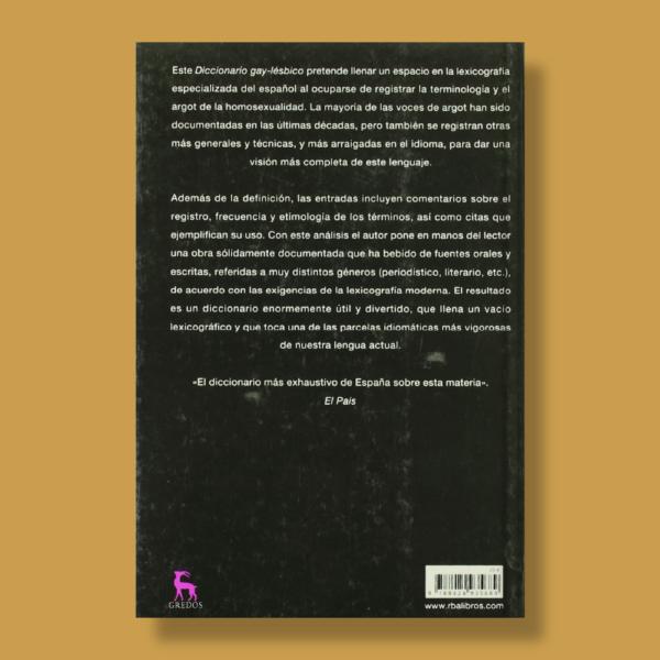 Diccionario gay-lésbico - Féliz Rodríguez - Gredos