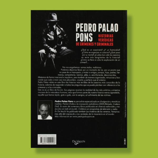 Historias verídicas de crímenes y criminales - Pedro Palao Pons - De Vecchi