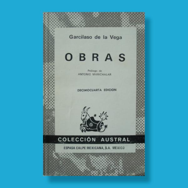 Obras - Garcilaso De La Vega - Espasa