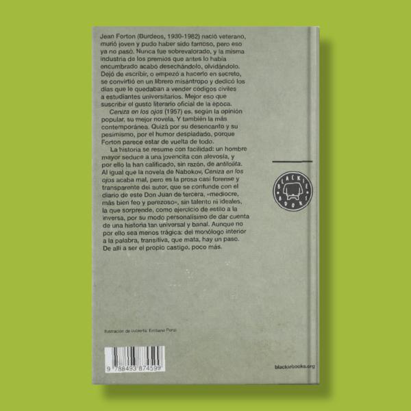 Ceniza en los ojos - Jean Forton - Blackie Books