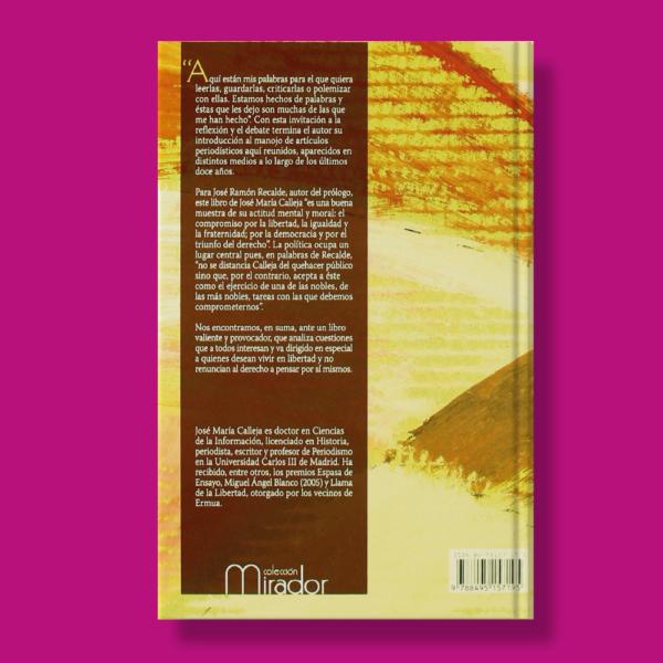 Para la libertad - Jose M. Calleja - Ediciones Turpial