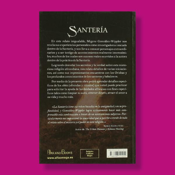 Santería: Mis experiencias en la religión - Migene González Wippler - Arkano Books