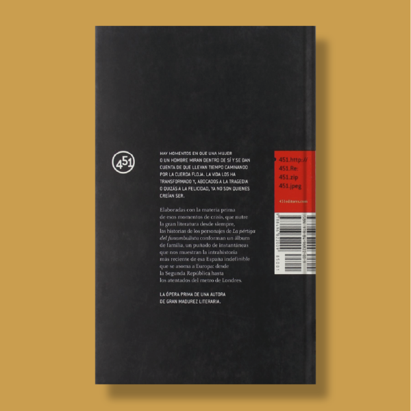 La pértiga del funambulista - Berta Tabor - 451 Editores