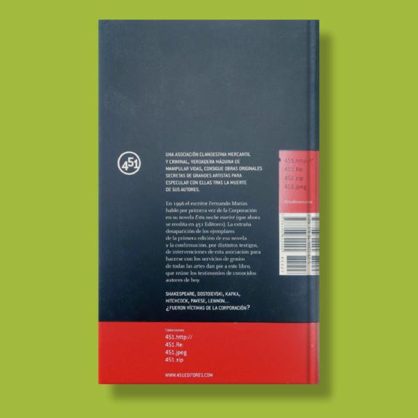 Historia secreta de la corporación - Varios Autores - 451 Editores