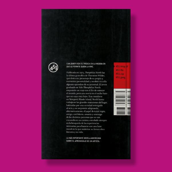 Theophilus north - Thornton Wilder - 451 Editores