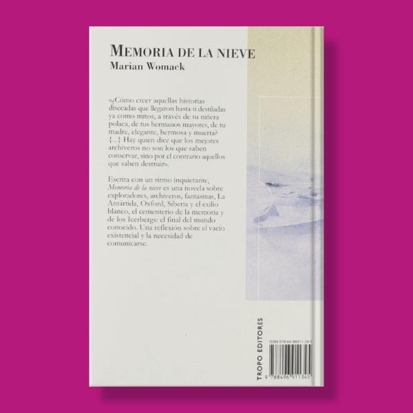 Memoria de la nieve - Marian Womack - Tropo Editores