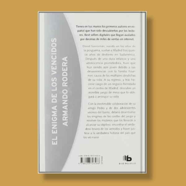 El enigma de los vencidos - Armando Rodera - B de Bolsillo