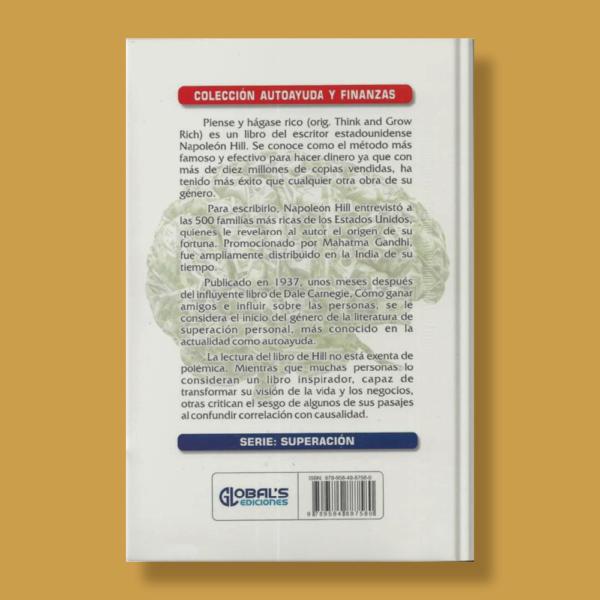 PIense y hágase rico - Napoleón Hill - Global's Ediciones