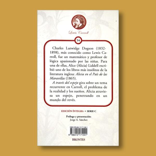 A través del espejo - Lewis Carroll - Ediciones Brontes