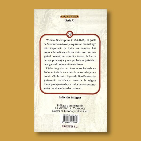 Otelo - William Shakespeare - Ediciones Brontes