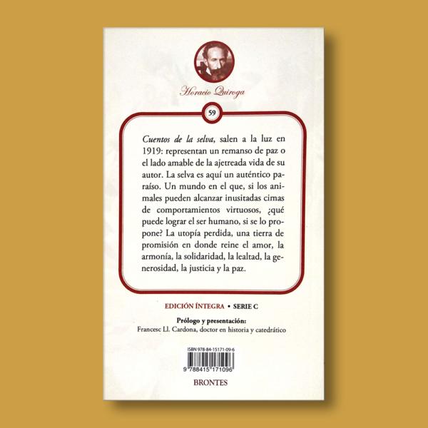 Cuentos de la selva - Horacio Quiroga - Ediciones Brontes