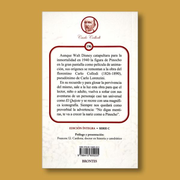 Pinocho - Carlo Collodi - Ediciones Brontes