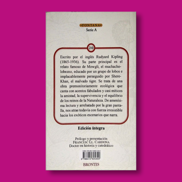 El libro de la selva - Rudyard Kipling - Ediciones Brontes