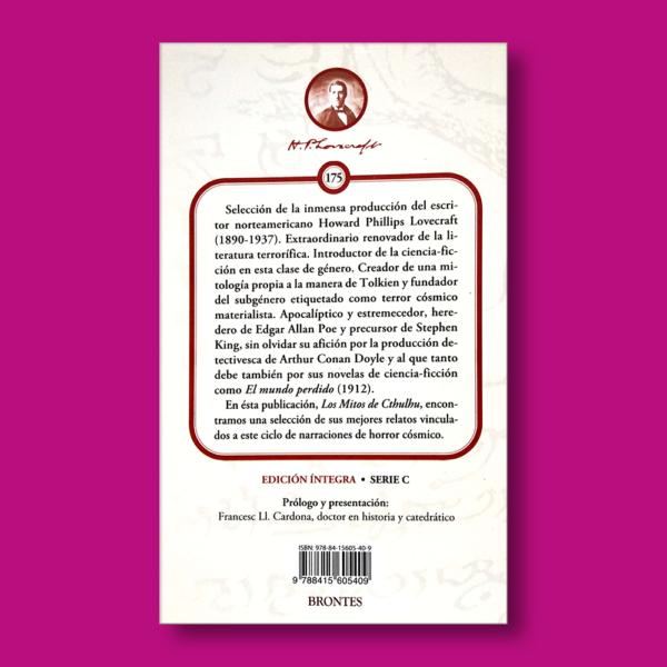 Los mitos de Cthulhu - H.P Lovecraft - Ediciones Brontes