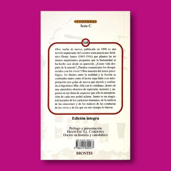 Otra vuelta de tuerca - Henry James - Ediciones Brontes