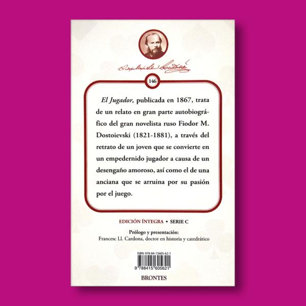 El jugador - Fiódor Dostoyevski - Ediciones Brontes