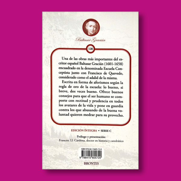 El arte de la prudencia - Baltasar Gracián - Ediciones Brontes