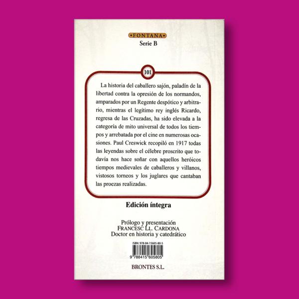 Las aventuras de Robin Hood - Paul Creswick - Ediciones Brontes