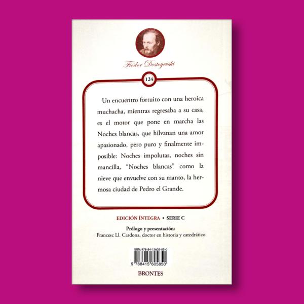 Noches Blancas - Fiódor Dostoyevski - Ediciones Brontes