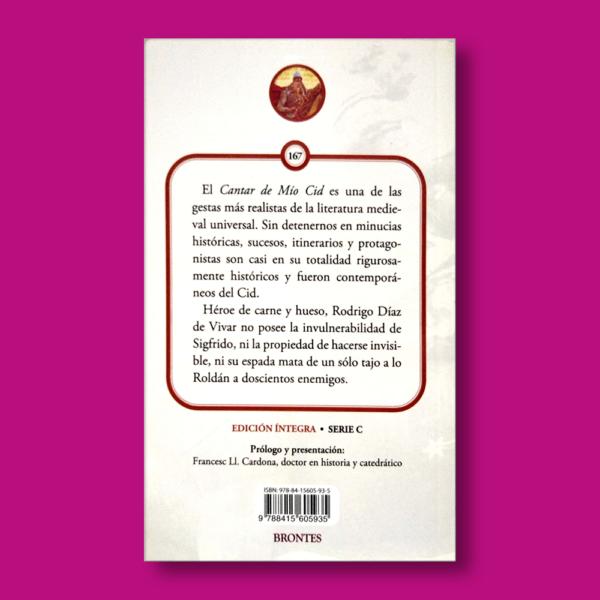 Cantar del Mío Cid - N/A - Ediciones Brontes