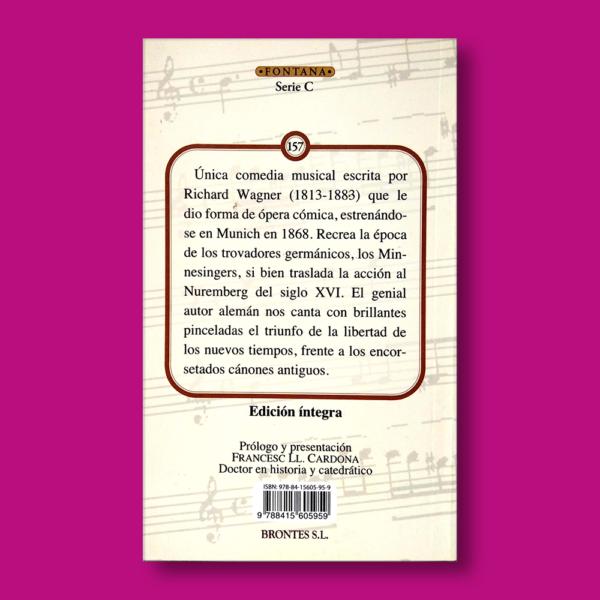 Los maestros cantores - Richard Wagner - Ediciones Brontes