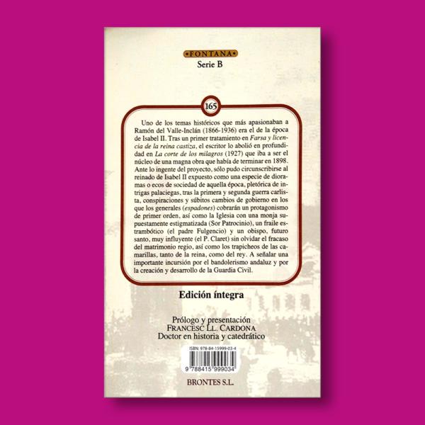 La corte de los milagros - Valle Inclán - Ediciones Brontes