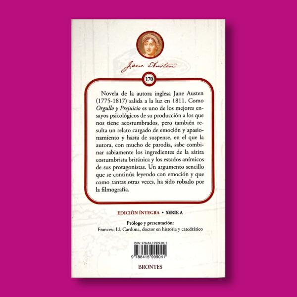 Sentido y sensibilidad - Jane Austen - Ediciones Brontes