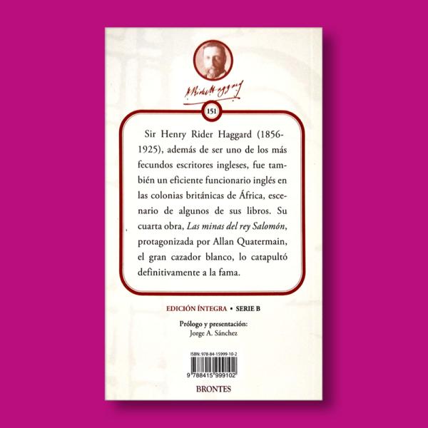 Las minas del Rey Salomón - H. Rider Haggard - Ediciones Brontes