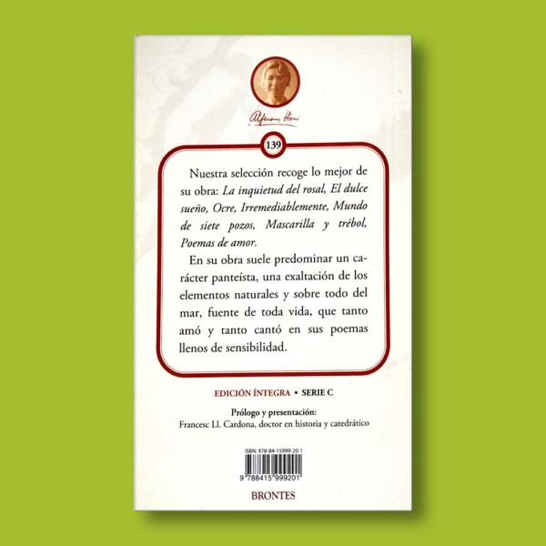 Antología poética - Alfonsina Storni - Ediciones Brontes