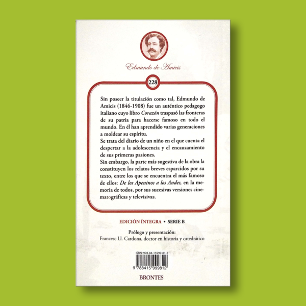 Corazón: Diario de un niño - Edmundo de Amicis - Ediciones Brontes