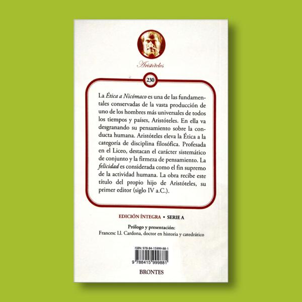 Ética a Nicómaco - Aristóteles - Ediciones Brontes