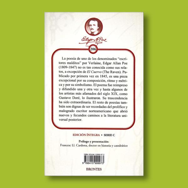 El cuervo y otros poemas - Edgar Allan Poe - Ediciones Brontes