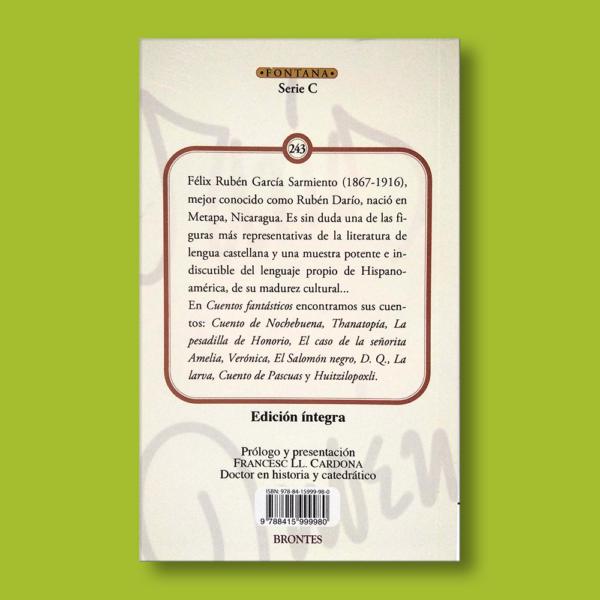 Cuentos fantásticos - Rubén Darío - Ediciones Brontes