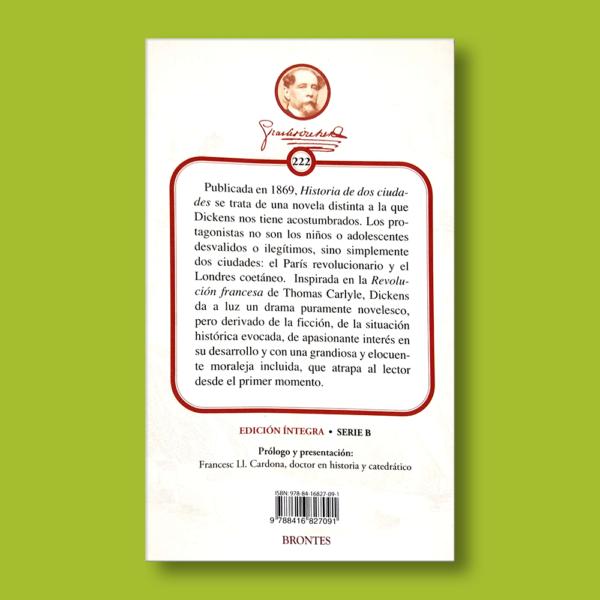 Historia de dos ciudades - Charles Dickens - Ediciones Brontes