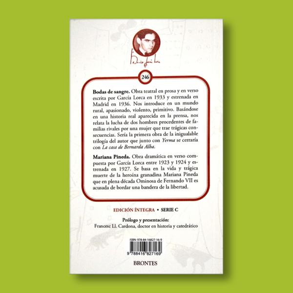Bodas de sangre - Federico García Lorca - Ediciones Brontes