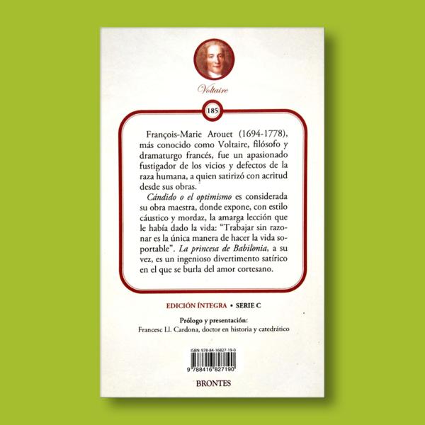 Cándido y Pincesa de Babilonia - Voltaire - Ediciones Brontes