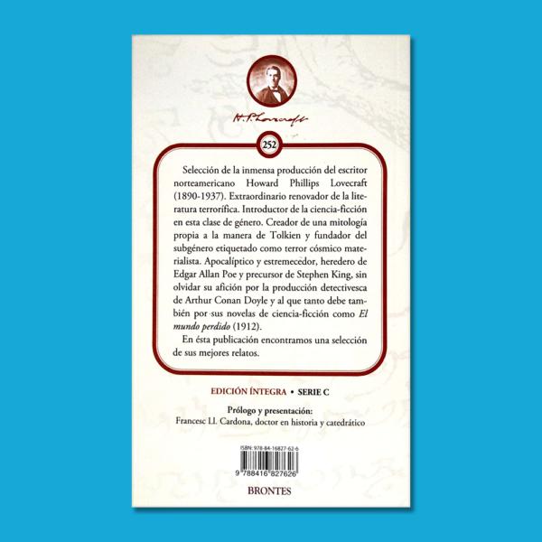 En la noche de los tiempos y otros relatos - H.P Lovecraft - Ediciones Brontes