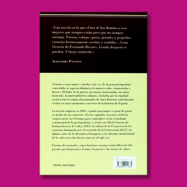 Victoria - Fernando Rivarés - Tropo Editores