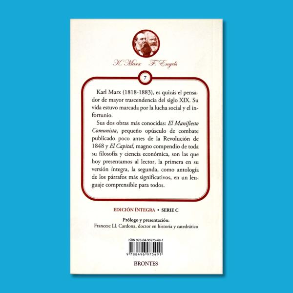 Manifiesto comunista: Antología del capital - K. Marx & F. Engels - Ediciones Brontes