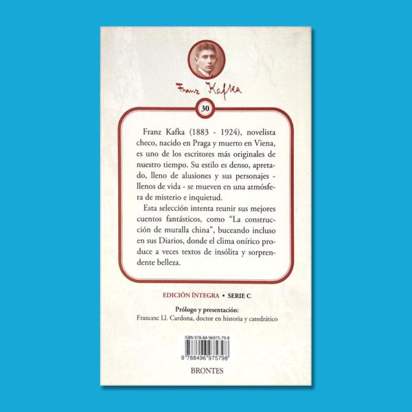 Cuentos fantásticos - Frank Kafka - Ediciones Brontes