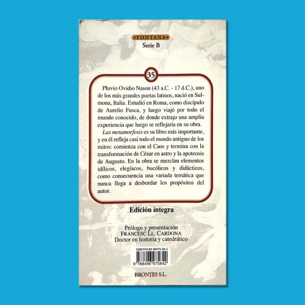 Las metamorfosis - Ovidio - Ediciones Brontes
