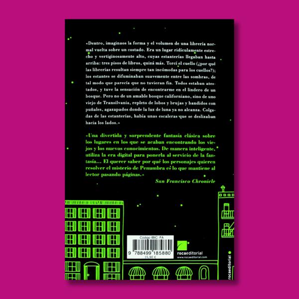 El Sr. Penunbra y su librería 24 horas abierta - Robin Sloan - Roca