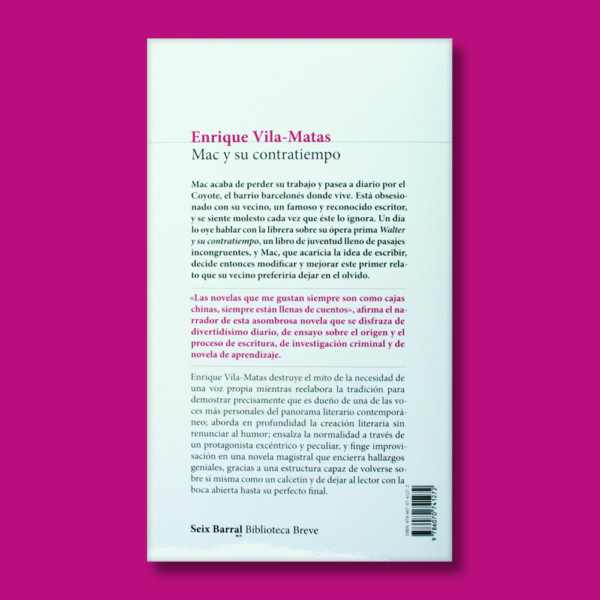 Mac y su contratiempo - Enrique Vila Matas - Planeta