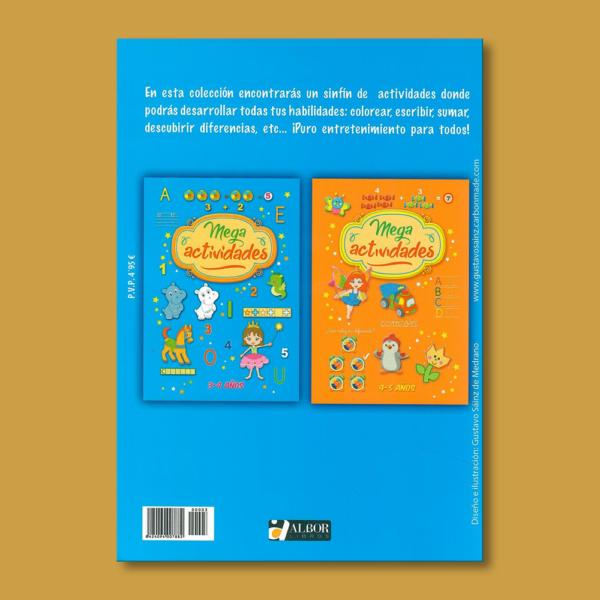 Mega actividades: 3-4 años - Varios Autores - Albor