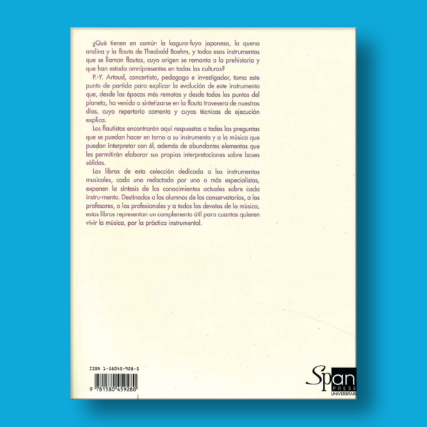La flauta - Pierre-Yves Artaud - Editorial Span Press