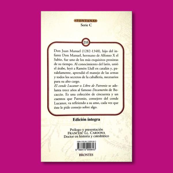 El conde Lucanor - Don Juan Manuel - Ediciones Brontes