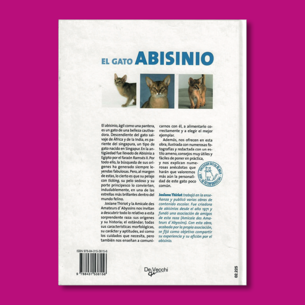 El gato Abisinio - Josiane Thiriot - Editorial De Vecchi